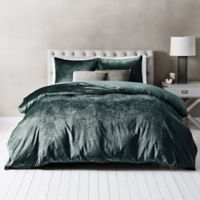 Wamsutta® Velvet Twin Duvet Cover Set in Aegean