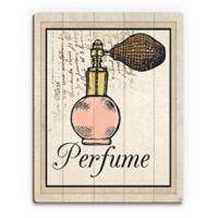 "Astra Art ""Perfume"" 11-Inch x 14-Inch Metal Wall Art in Orange"