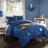 American Kids Solar System Reversible 3-Piece Full Comforter Set in Navy