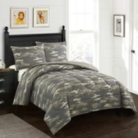 American Kids Colton Camo 2-Piece Twin Comforter Set in Green