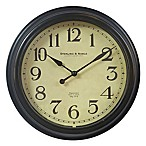 Traditional Bronze Finish 10-Inch Wall Clock