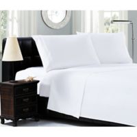 Elegant Comfort™ Chain Embroidered Microfiber California King Sheet Set in White