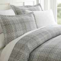 Elegant Comfort Polka Dot Twin Sheet Set in Grey