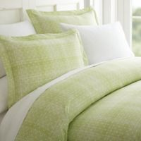 Elegant Comfort Polka Dot King Sheet Set in Sage