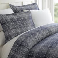 Elegant Comfort Polka Dot Twin Sheet Set in Navy