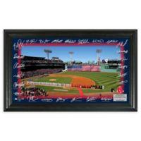 MLB Boston Red Sox 2018 Signature Framed Baseball Diamond Wall Art