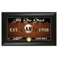 "MLB San Francisco Giants Framed ""She Shed"" Bronze Coin Wall Art"
