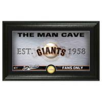 "MLB San Francisco Giants Framed ""Man Cave"" Bronze Coin Wall Art"