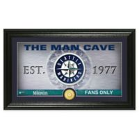 "MLB Seattle Mariners Framed ""Man Cave"" Bronze Coin Wall Art"