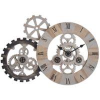 FirsTime® 32-Inch Rustic Gear Wall Clock