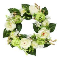 Puleo International 24-Inch Artificial Hydrangea Wreath
