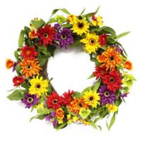 Puleo International 20-Inch Artificial Chrysanthemum Wreath