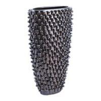 Zuo Modern 15.7-Inch Ceramic Urchin Vase in Black