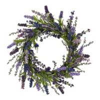 Nearly Natural 20-Inch Artificial Lavender Wreath
