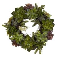 Nearly Natural 20-Inch Succulent Wreath
