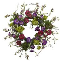 Nearly Natural 20-Inch Artificial Veranda Garden Wreath