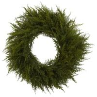 Nearly Natural 24-Inch Artificial Cedar Wreath