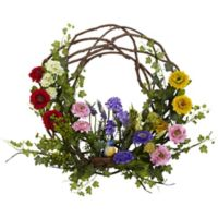 Nearly Natural™ 22-Inch Spring Floral Wreath