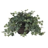 Nearly Natural 18-Inch Artificial Puff Ivy Arrangement in Vase