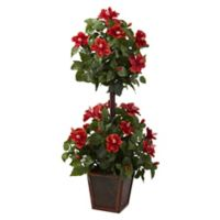 Nearly Natural 39-Inch Artificial Hibiscus Topiary