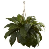 Nearly Natural 28-Inch Artificial Double Giant Birdsnest Hanging Basket