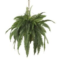 Nearly Natural™ 22-Inch Boston Fern Hanging Basket