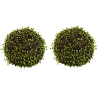 Nearly Natural 9-Inch Artificial Mohlenbechia Balls (Set of 2)