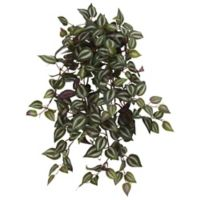 Nearly Natural 23-Inch Artificial Wandering Jew Hanging Plants (Set of 4)