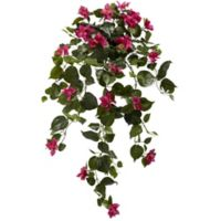 Nearly Natural 37-Inch Artificial Bougainvillea Hanging Plants (Set of 2)
