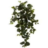 Nearly Natural 34-Inch Artificial Philo Hanging Plants (Set of 3)
