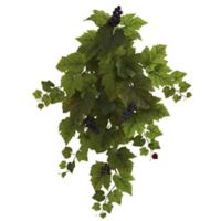 Nearly Natural 31-Inch Artificial Grape Leaf Hanging Plants (Set of 2)
