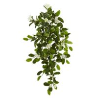 Nearly Natural Artificial Stephanotis & Ivy Hanging Plants (Set of 4)