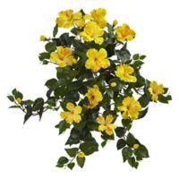 Nearly Natural Artificial Hibiscus Hanging Plants (Set of 2)