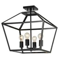 Renwil 4-Light Ceiling Light in Black/gold