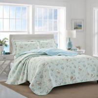 Laura Ashley® Weekly Getaway Reversible King Quilt Set in Mint