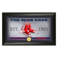 "MLB Boston Red Sox Framed ""Man Cave"" Bronze Coin Wall Art"
