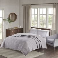 Madison Park Grand Isle Reversible Full/Queen Coverlet Set in Grey