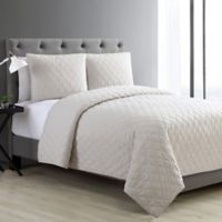 VCNY Home Buckingham Diamond King Coverlet Set in Taupe