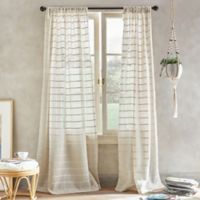 South Beach 95-Inch Pole Top Window Curtain Panel in Linen