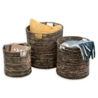 Honey-Can-Do® Coastal 3-Piece Woven Nesting Storage Bins Set in Natural