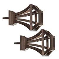 Cambria® Elite Square Birdcage Finial in Oil Rubbed Bronze (Set of 2)
