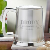 Best Men 20 oz. Wedding Party Stainless Steel Tankard