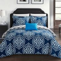 Chic Home Abello Reversible Twin XL Duvet Cover Set in Navy