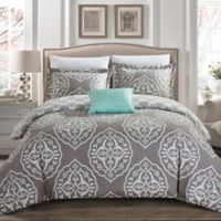 Chic Home Abello Reversible Twin Duvet Cover Set in Grey