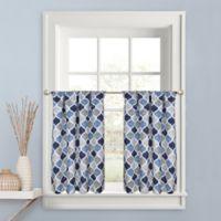 Priya 36-Inch Kitchen Window Curtain Tier Pair in Blue