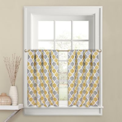 Charmant Priya 36 Inch Kitchen Window Curtain Tier Pair In Yellow