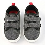 Rising Star™ Size 3-9M Canvas Sneaker in Grey/Black