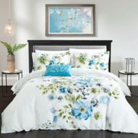 Chic Home Gladys Reversible King Duvet Cover Set in Blue