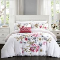 Chic Home Gladys Reversible Queen Duvet Cover Set in Rose