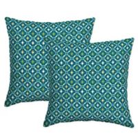 Selections by Arden Tile Square Throw Pillows in Blue (Set of 2)